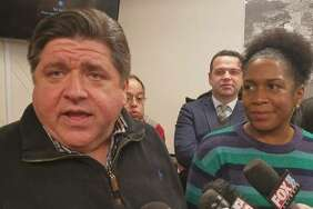 """Gov. J.B. Pritzker, left, is seen with Lt. Gov. Juliana Stratton in a 2018 file photo. Stratton this week said if the graduated income tax amendment fails Nov. 3 state residents could see personal income taxes rise by """"at least 20%."""""""