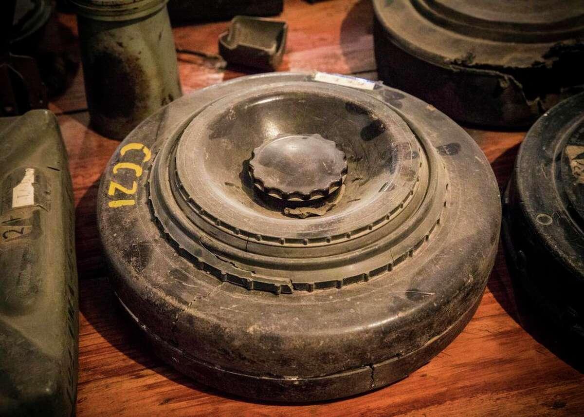 A Czech-made PT-Mi-Ba lll antitank mine found in Cuito Canavale.