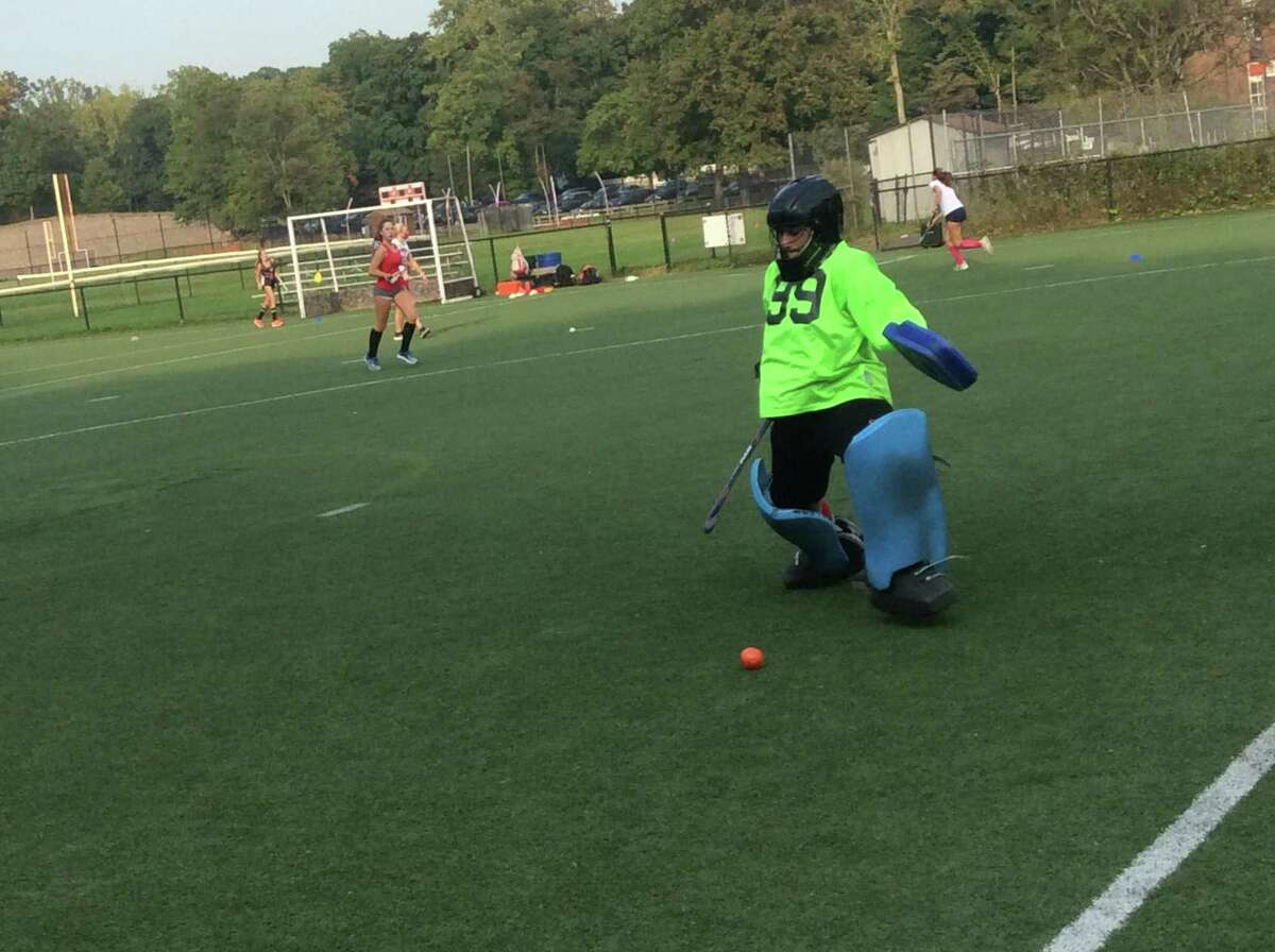 Goalie Jorja Pastore is a senior captain of the Greenwich High School field hockey team.