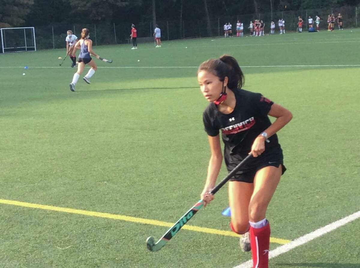 Eleanor Ybarra is a senior captain of the Greenwich High School field hockey team.