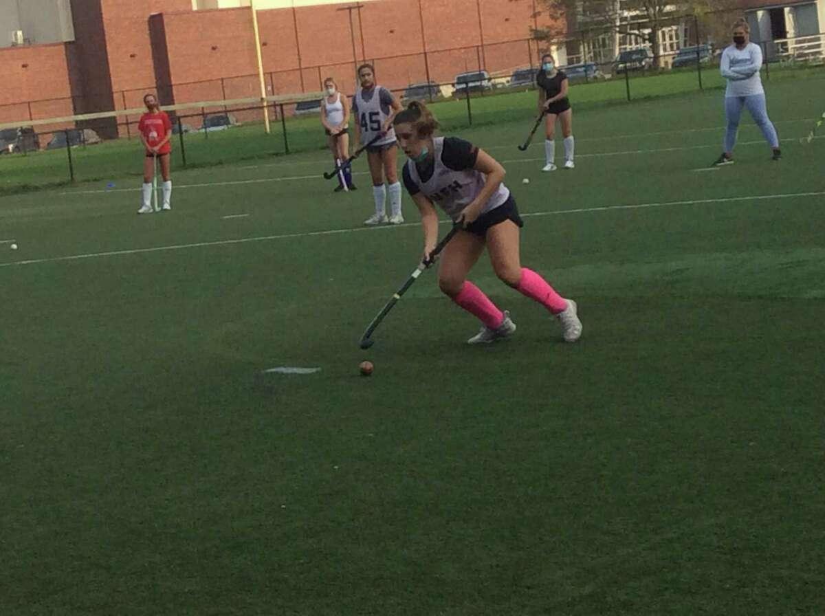 Agustina Ferrario is a senior captain of the Greenwich High School field hockey team.