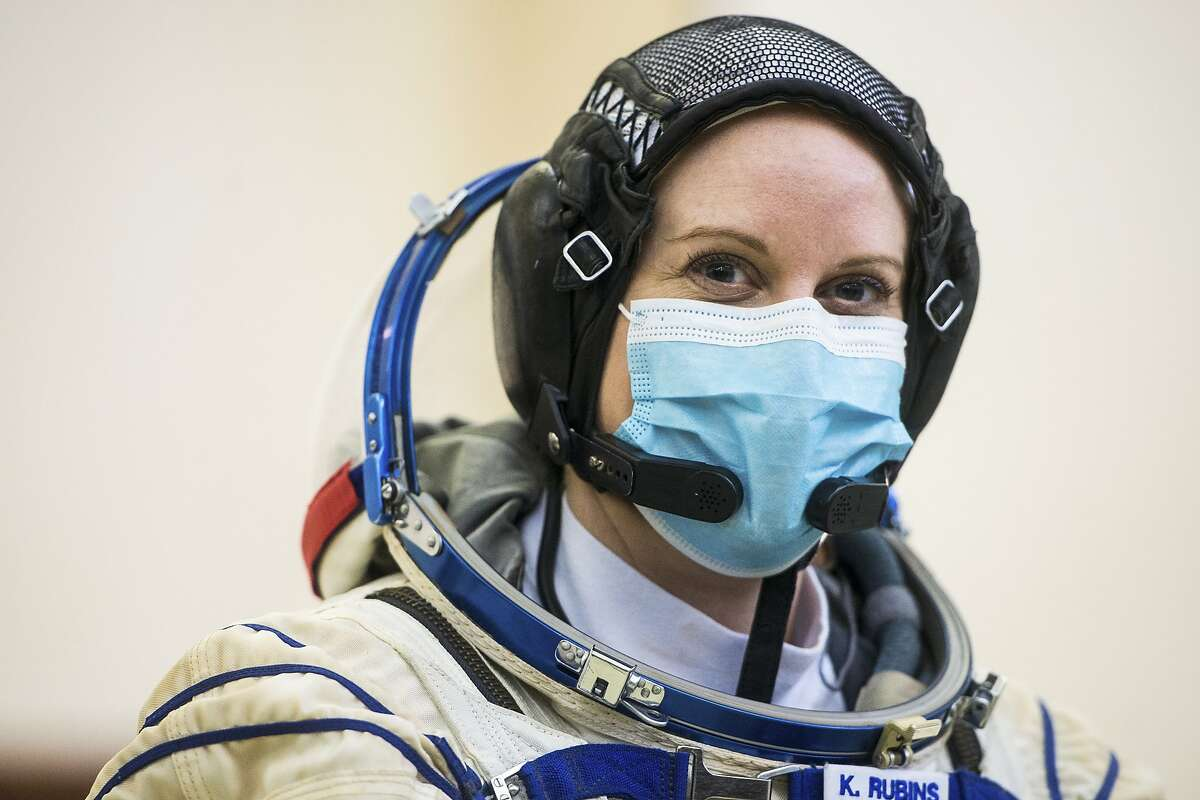 Megan McArthur, left, will head to the International Space Station in late April. She will take the place of fellow NASA astronaut Kate Rubins, right, seen during Soyuz qualification exams in Star City, Russia.