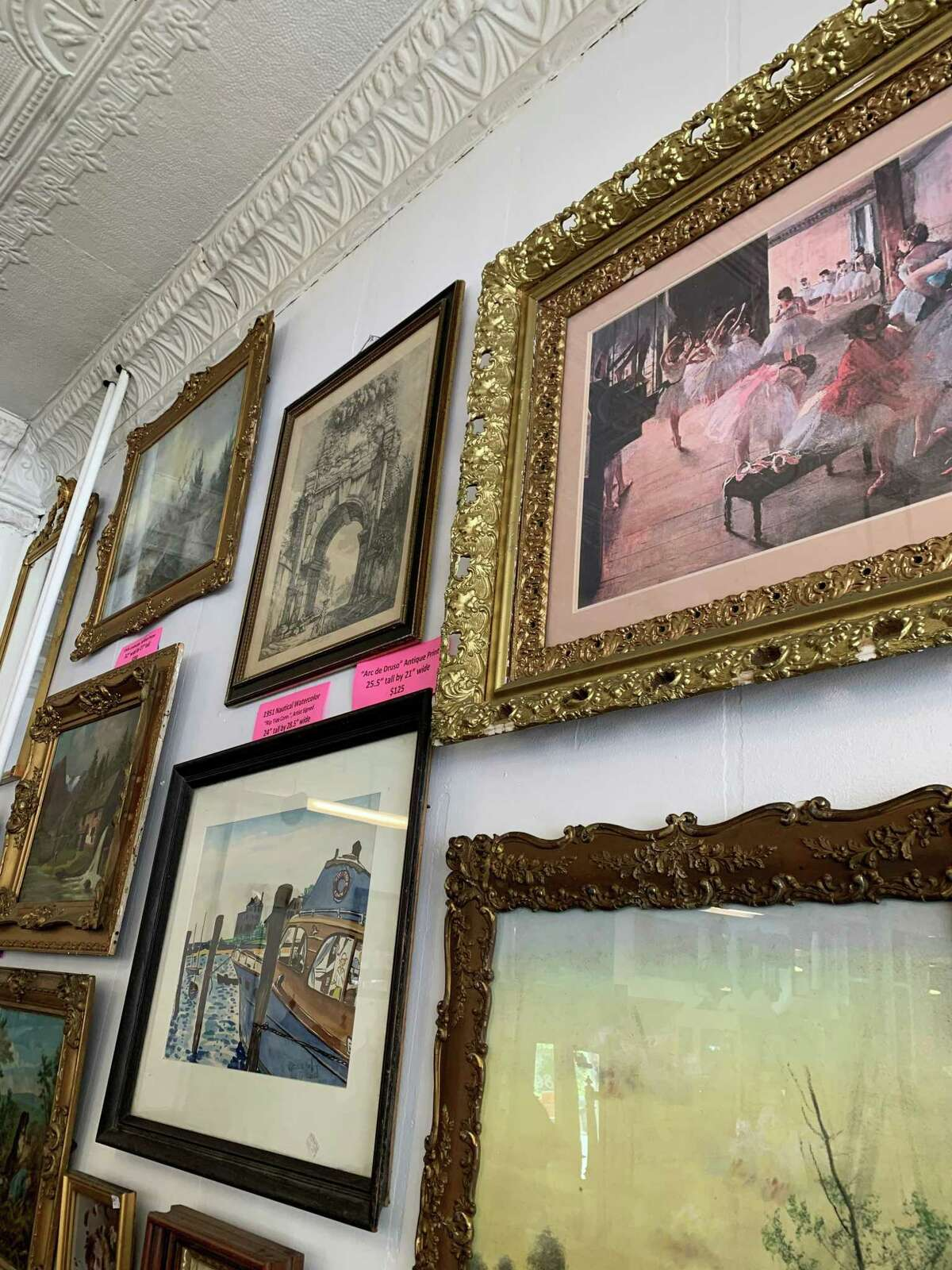 Villa's Corner Gallery reopened Sept. 18. The shop on Route 44 in Winsted offers a wide variety of collectibles, furniture, wall art, jewelry, sculpture, lawn and garden ornaments and other treasures.