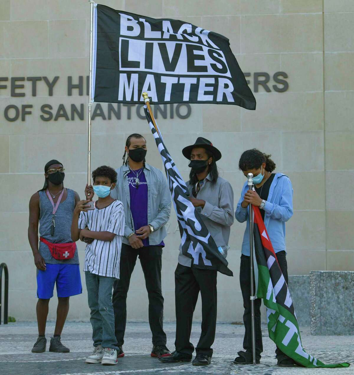 Young Ambitious Activists and others rally in downtown San Antonio on Friday, Sept. 25, 2020, because a grand jury in Kentucky this week did not indict police officers who shot and killed Breonna Taylor, a Black woman, six times in March.