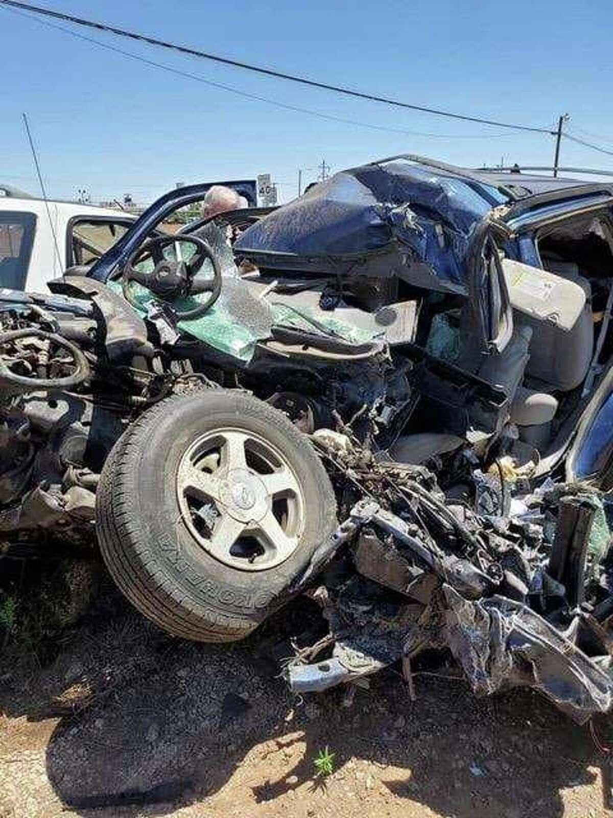 Joshua Fowler broke 27 bones in a wreck on May 19.