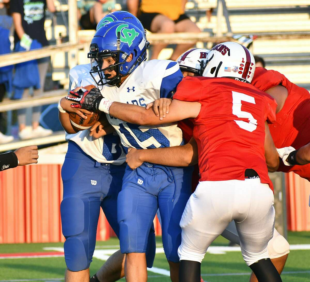 Lockney dispatched of Compass Academy 67-0 in a non-district high school football game on Friday, Sept. 25, 2020 at Lockney.