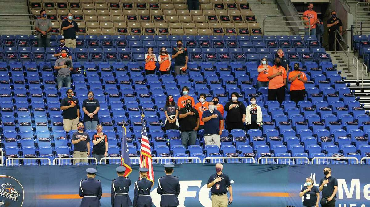 ocially distanced fans stands at the Alamdome this past fall, when UTSA averaged 6,496 for six games with COVID-19 protocols in place. The loss of ticket revenue is hurting the budget.