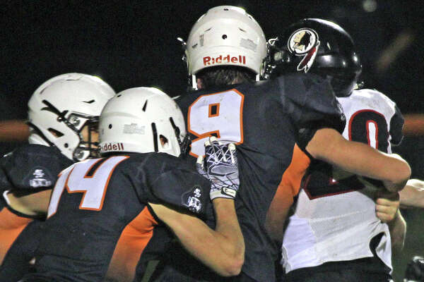 The Sandusky Redskins traveled to Harbor Beach on Friday night and upended the Pirates, 42-30.