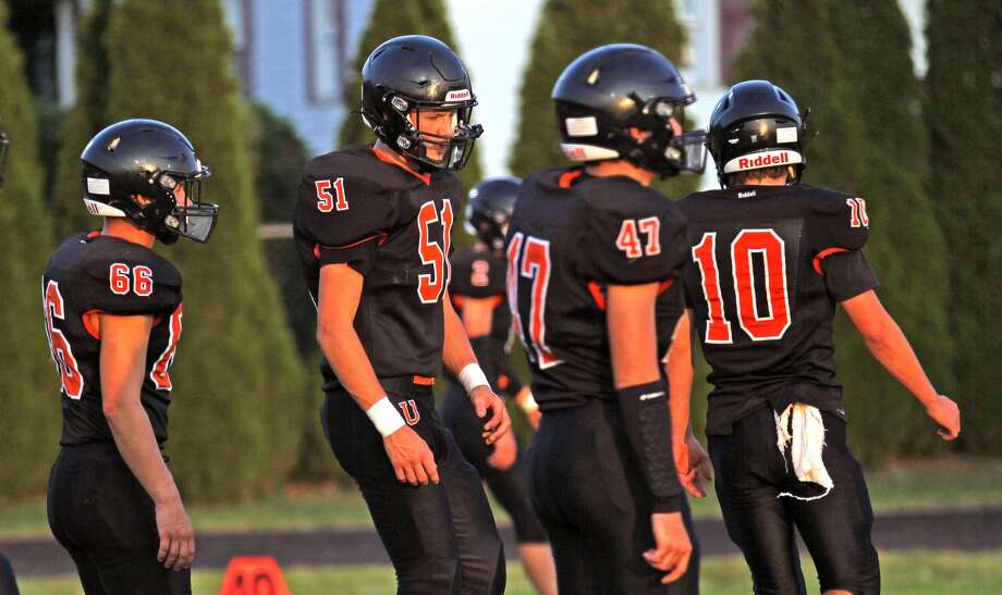 The Ubly Bearcats rolled over the Memphis Yellowjackets on Friday, capturing the first career victory for new head coach Eric Sweeney. Photo: Mark Birdsall/Huron Daily Tribune