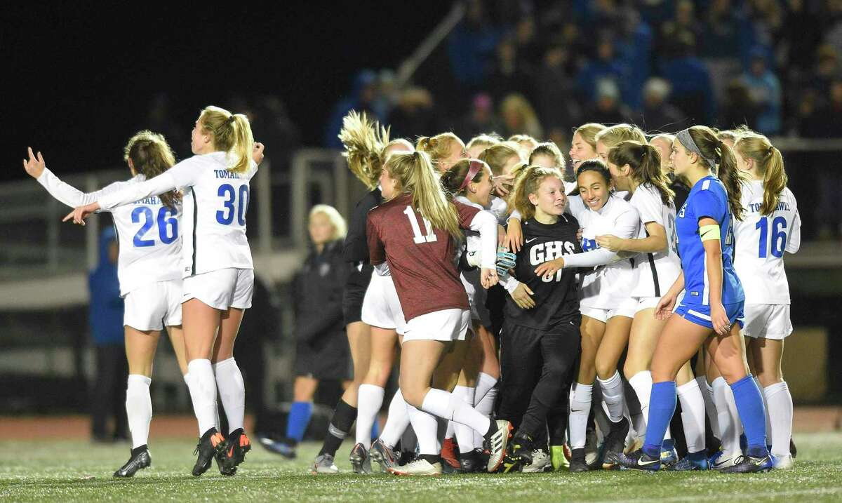 Glastonbury defeated Southington 1-0 in the CIAC Class LL girls soccer state championship last November.