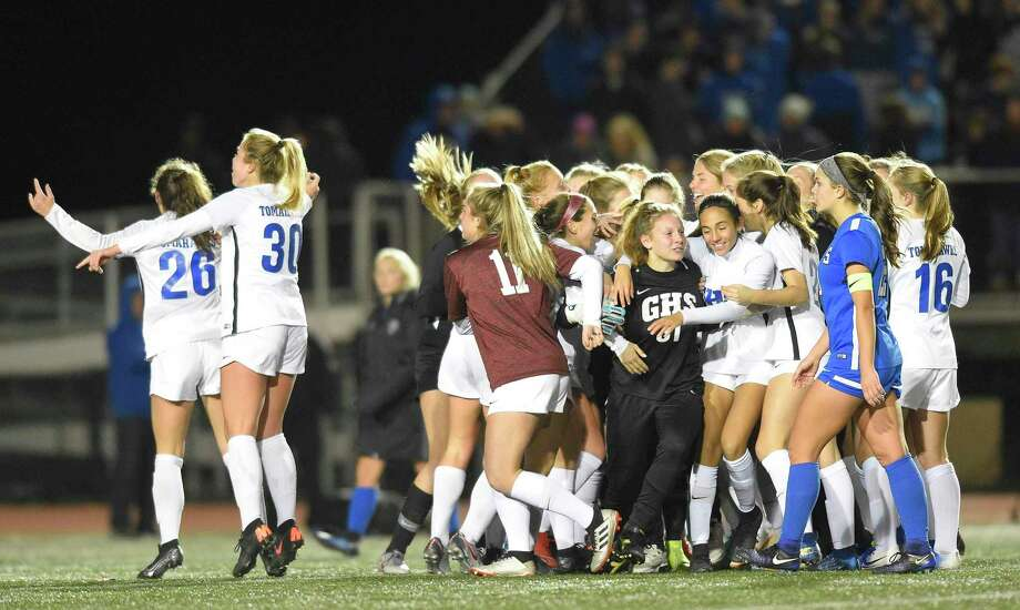 Glastonbury defeated Southington 1-0 in the CIAC Class LL girls soccer state championship last November. Photo: Matthew Brown / Hearst Connecticut Media / Stamford Advocate