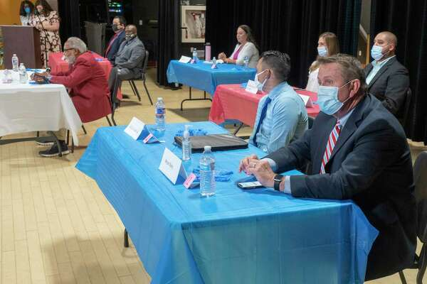 MISD board of trustee candidates at The League of Women Voters and The National Association of Negro Business and Professional Women's Club of Midland candidate forum 09/26/2020 at the MLK Center. Tim Fischer/Reporter-Telegram