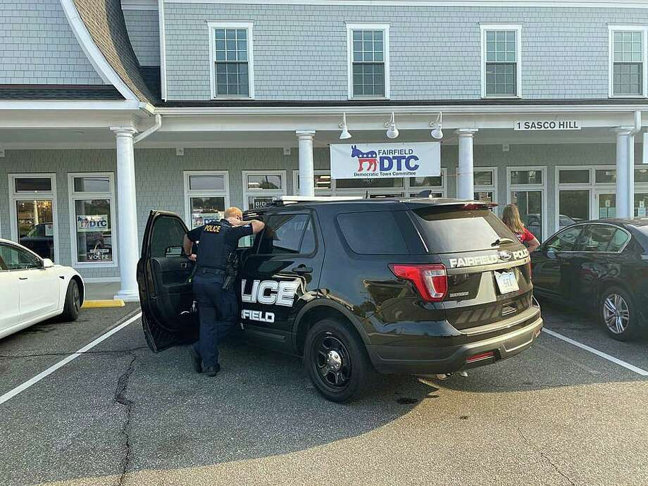 A Westport man was arrested on Friday, Sept. 25, 2020 after Fairfield police said he showed up at the front door of the Democratic Town Committee office yelling profanities and insults at volunteers inside. Michael Silverstein, 61, of Bayberry Lane, was issued a summons for breach of peace after the incident that happened around 4 p.m. at the DTC office at 1 Sasco Hill Road Photo: Fairfield DTC Photo