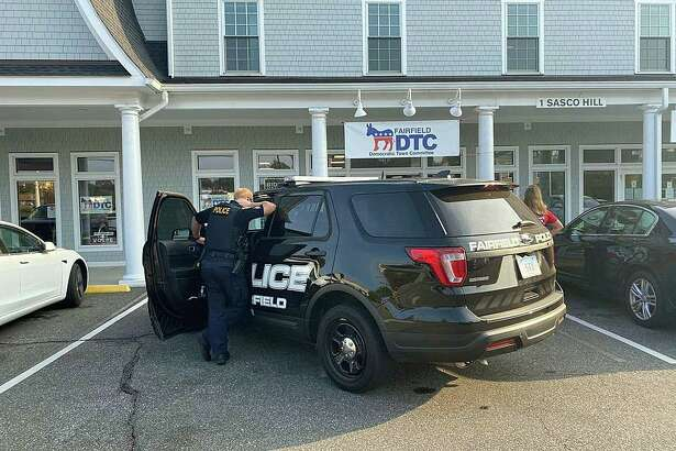 A Westport man was arrested on Friday, Sept. 25, 2020 after Fairfield police said he showed up at the front door of the Democratic Town Committee office yelling profanities and insults at volunteers inside. Michael Silverstein, 61, of Bayberry Lane, was issued a summons for breach of peace after the incident that happened around 4 p.m. at the DTC office at 1 Sasco Hill Road
