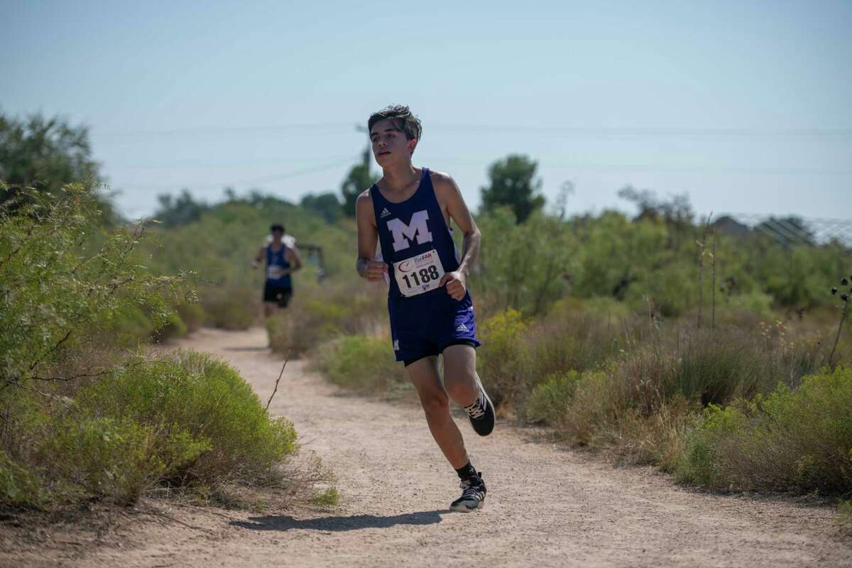 Midland High?•s Steven Soto Vasquez runs along the Sibley Nature Trail during the Tall City Invitational on Saturday, Sept. 26, 2020 at Hogan Park. Jacy Lewis/Reporter-Telegram