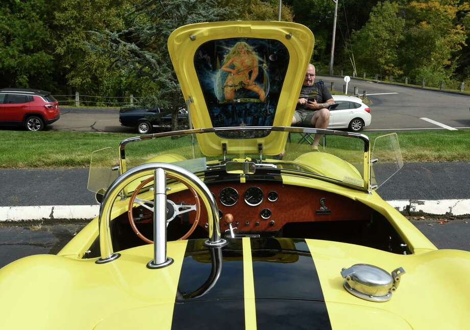 A 1967 Shelby Cobra on display at a classic car show at Evergreen Woods in Branford on September 26, 2020. Photo: Arnold Gold, Hearst Connecticut Media / New Haven Register
