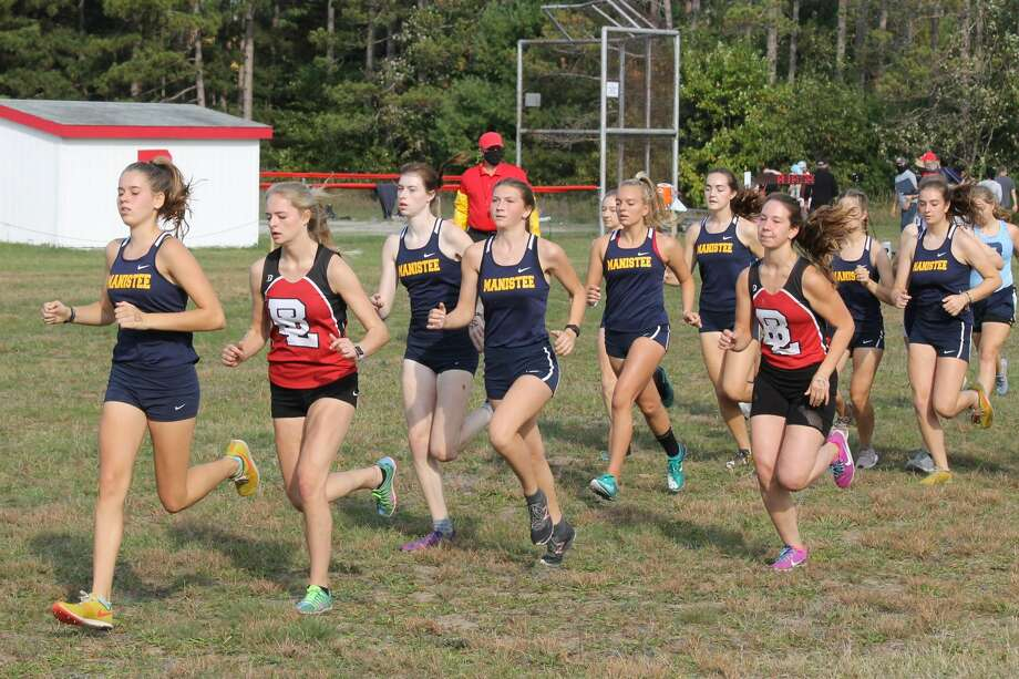 Runners from Bear Lake, Brethren and Manistee race at Bear Lake on Sept. 26. Photo: Robert Myers