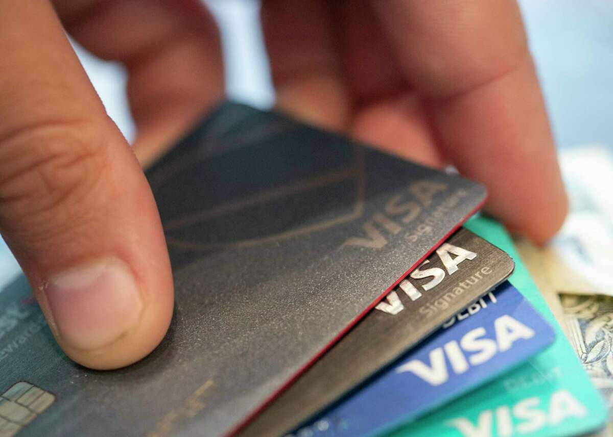 FILE - This Aug. 11, 2019 file photo shows Visa credit cards in New Orleans. If youa€™ve been denied COVID-19 assistance for your credit cards or offered terms that are not sustainable, credit counseling may get your finances on track. (AP Photo/Jenny Kane, File)