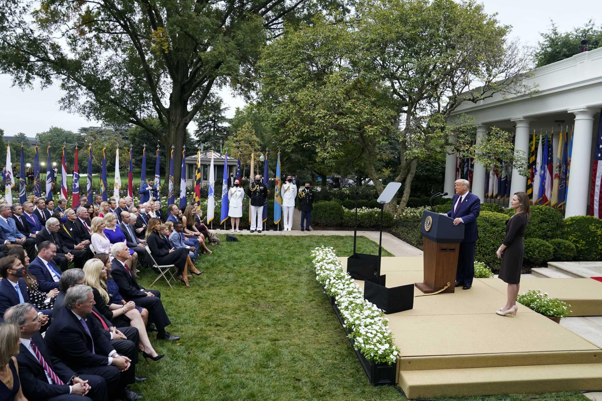 Trump nominates Amy Coney Barrett to the Supreme Court at White House event