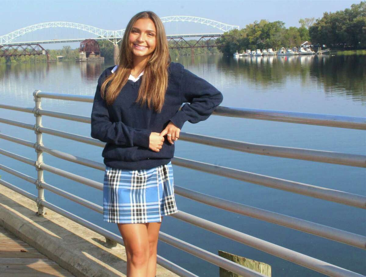TikTok star and Mercy High School senior Alanna Rondinone, 16, is shown at Harbor Park in Middletown with the Arrigoni Bridge in the background. She's being called an up-and-coming social media star for her dance videos and modeling shots.