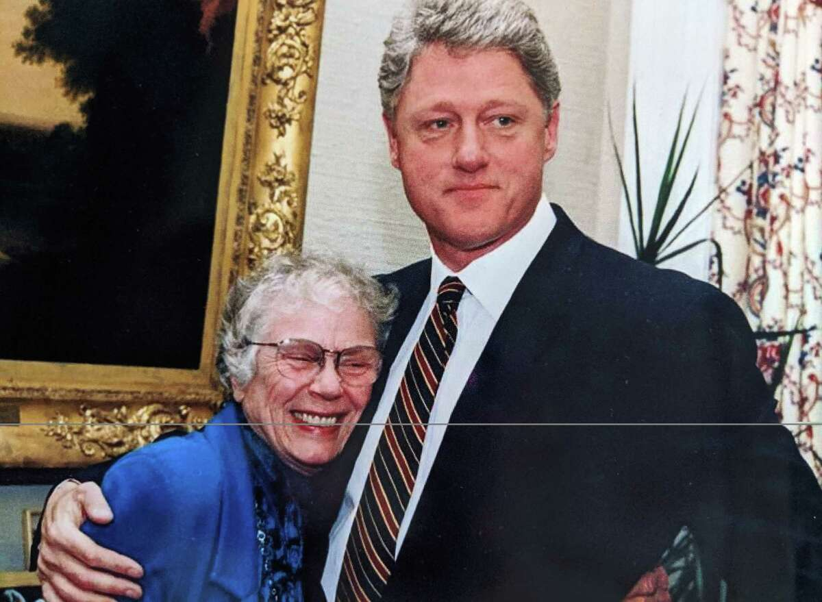 Lillian Brown with former President Bill Clinton in 1996. MUST CREDIT: White House Photo/Courtesy of the Brown family.