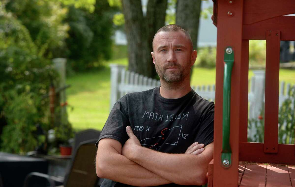 Ryan Marquis, of Brookfield, is a community college student who was formerly incarcerated and participated in a program called Second Chance Pell. The program is currently halted because instructors can't teach in-person right now. Tuesday, September 15, 2020, in Brookfield, Conn.