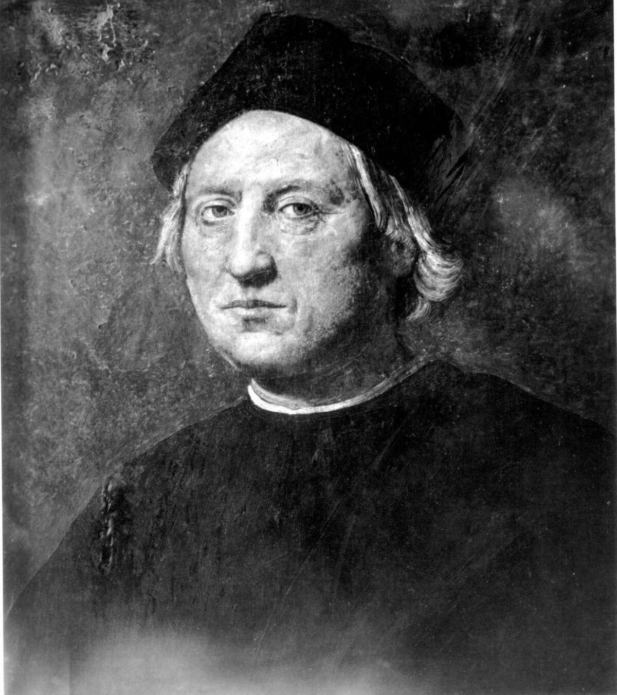 This is an undated portrait of Italian explorer Christopher Columbus attributed to Rodolfo Ghirlandaia. The original is in the Naval Museum of Pegli in Genoa, Italy, Columbus' birthplace.