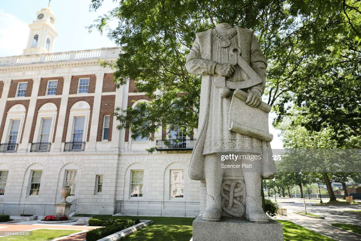 The head will be restored to the decapitated statue of Christopher Columbus in Waterbury, where voters will determine if it will remain in front of City Hall.