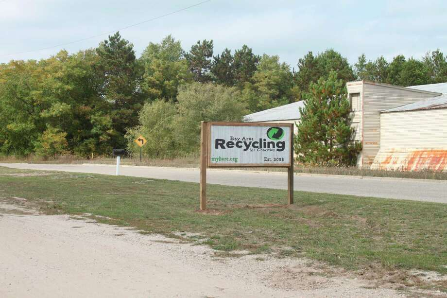Manistee County partnered with the Bay Area Recycling for Charities location in Kaleva for Saturday's scrap tire event. (Erin Glynn/News Advocate)