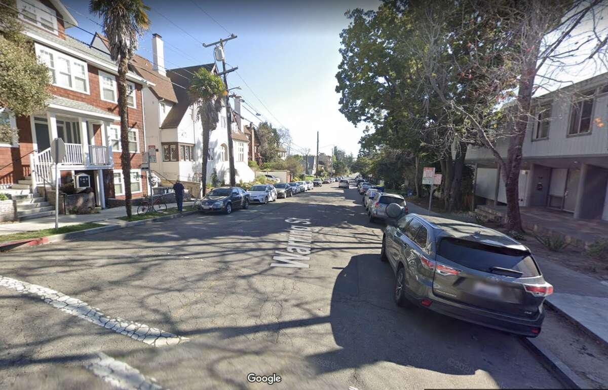Looking down the 2400 block of Warring Street in Berkeley, Calif.