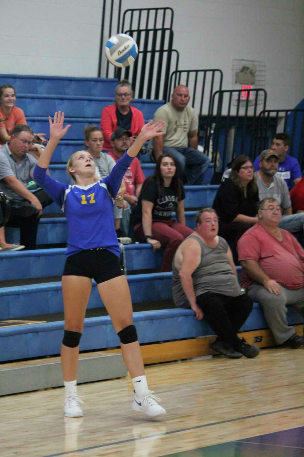 Kara Henry is in her senior volleyball season for Evart. (Pioneer file photo)
