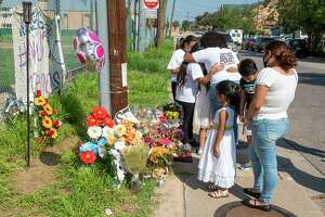Family, friends and supporters of the #justiceforgracy hashtag mourn the loss of Gracy Epinoza, Saturday, Sep. 26, 2020, as they gather at Ochoa Park for a vigil.