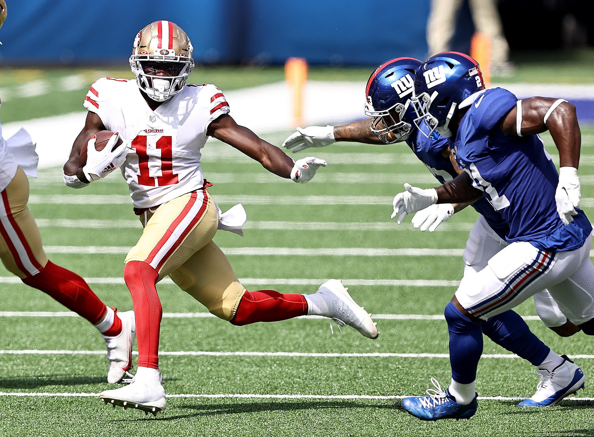 49ers' rookie WR Brandon Aiyuk looks to be experienced in blowout of Giants - San Francisco Anecdote thumbnail