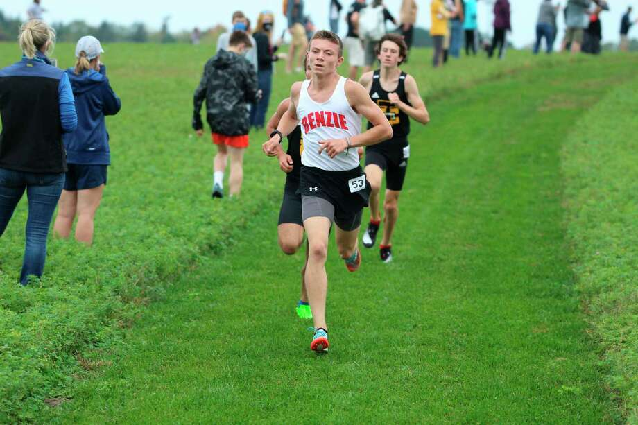 Benzie Central's Hunter Jones races to another victory on Saturday at Petoskey. (Submitted photo/Gary Pallin)