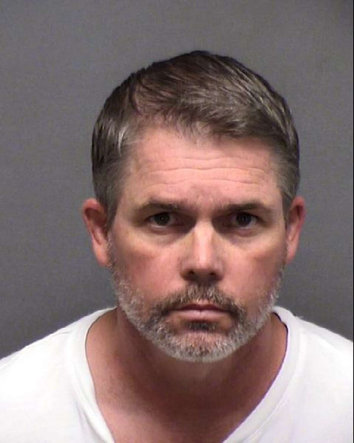 SAPD Sergeant Glenn Michalec, seen in a Sept. 27, 2020, booking photo provided by the Bexar County Sheriff's Department, was arrested about 1:00 a.m. in the 21100 block of Blanco Rd. for DWI, according to an SAPD press release and Bexar County central magistrate records. The 29 year member of the department was booked at the central magistrate office about 8:00 a.m. He appeared before a magistrate at 11:30 a.m. and was related 10 minutes later on an $800 bail, according to central magistrate records. He will be placed on administrative leave while he waits for the outcome of his criminal and administrative investigations, according to the press release.