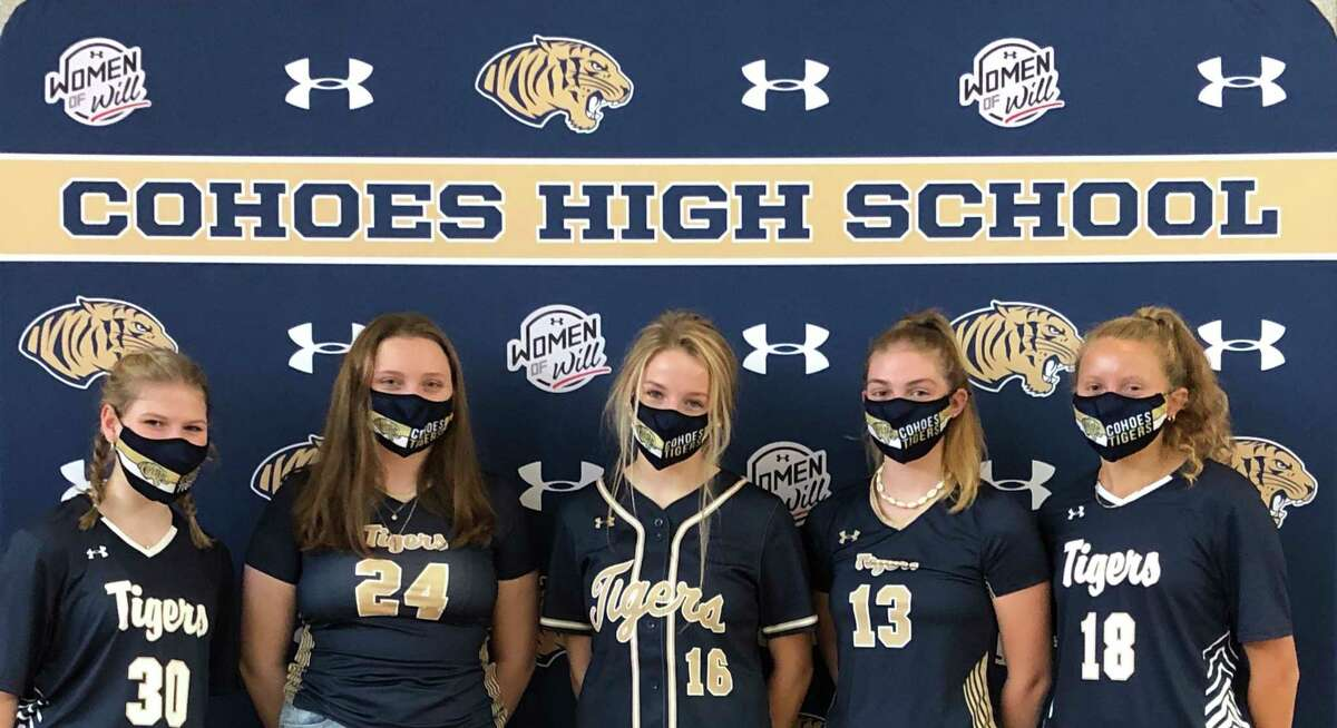 Girls who participate in high school sports in the Cohoes School District will be sporting new athletic gear and will be eligible for unique opportunities thanks to a partnership with Under Armour and BSN Sports. (Cohoes School District)