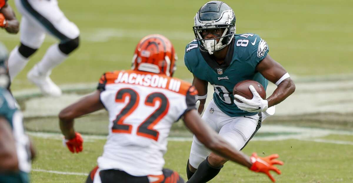 Philadelphia Eagles wide receiver Greg Ward (84) in action during an NFL football game against the Cincinnati Bengals, Sunday, Sept. 27, 2020, in Philadelphia. (AP Photo/Laurence Kesterson)