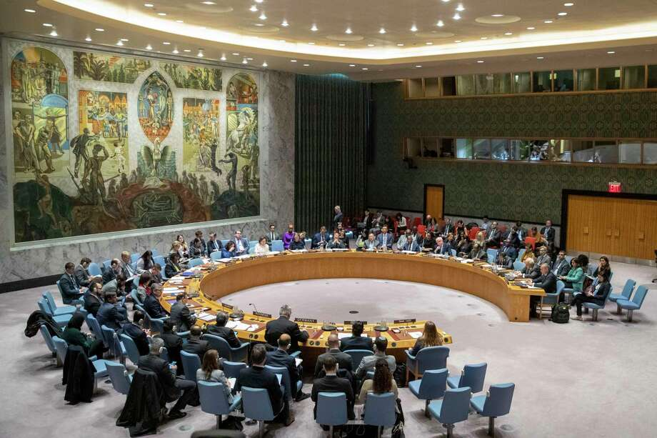 ARCHIVO - En imagen de archivo del miércoles 20 de noviembre de 2020, el Consejo de Seguridad de Naciones Unidas sostiene una reunión sobre el Medio Oriente, incluyendo el caso de los palestinos, en la sede de la ONU. Photo: Mary Altaffer /Associated Press / Copyright 2019 The Associated Press. All rights reserved.