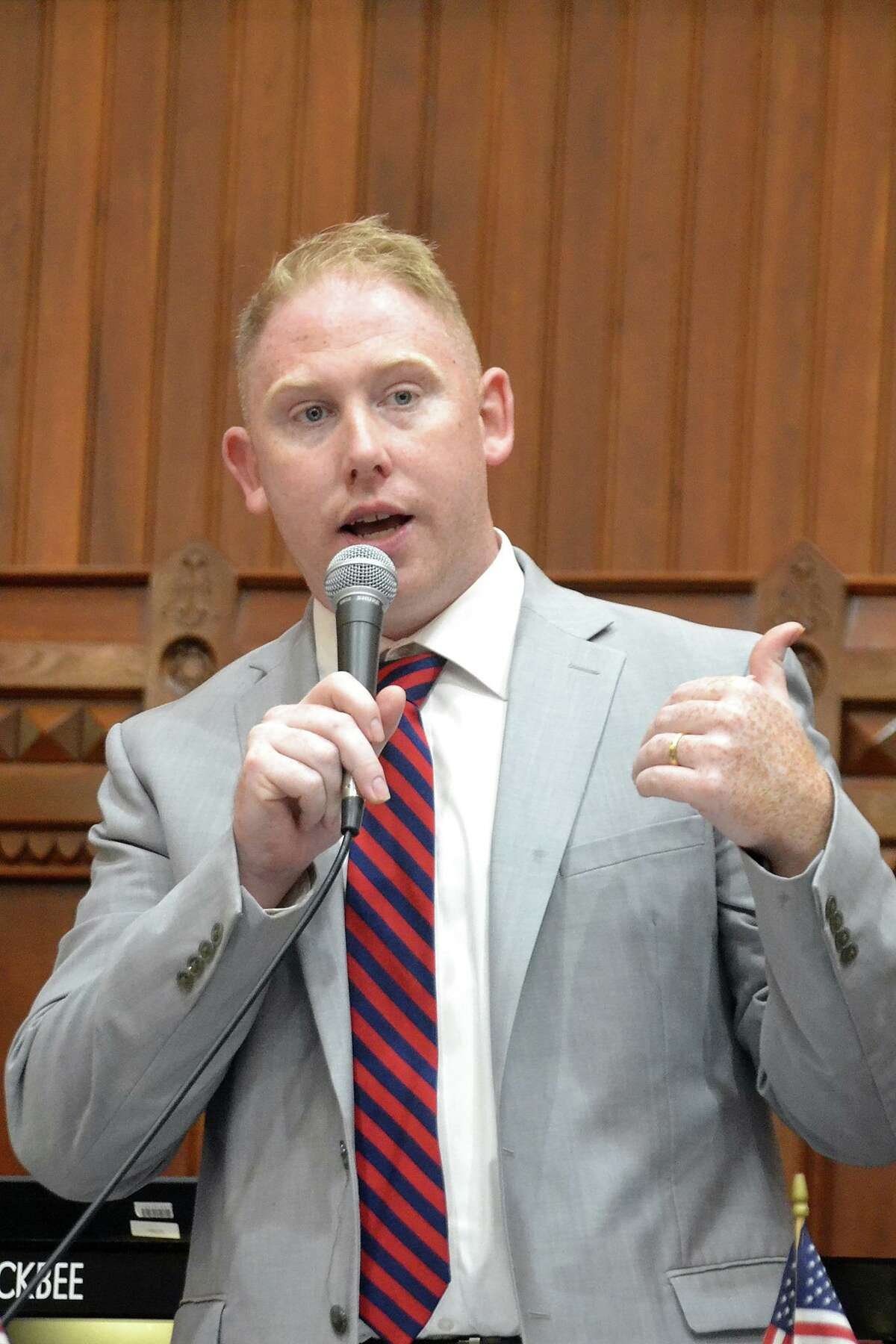 Republican Stephen Harding is running for re-election to represent the 107th House district, which includes Brookfield, Bethel and Danbury.