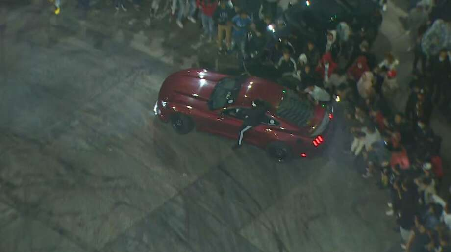 Several people hit by cars drifting near the Space Needle Photo: Courtesy Of KOMO News