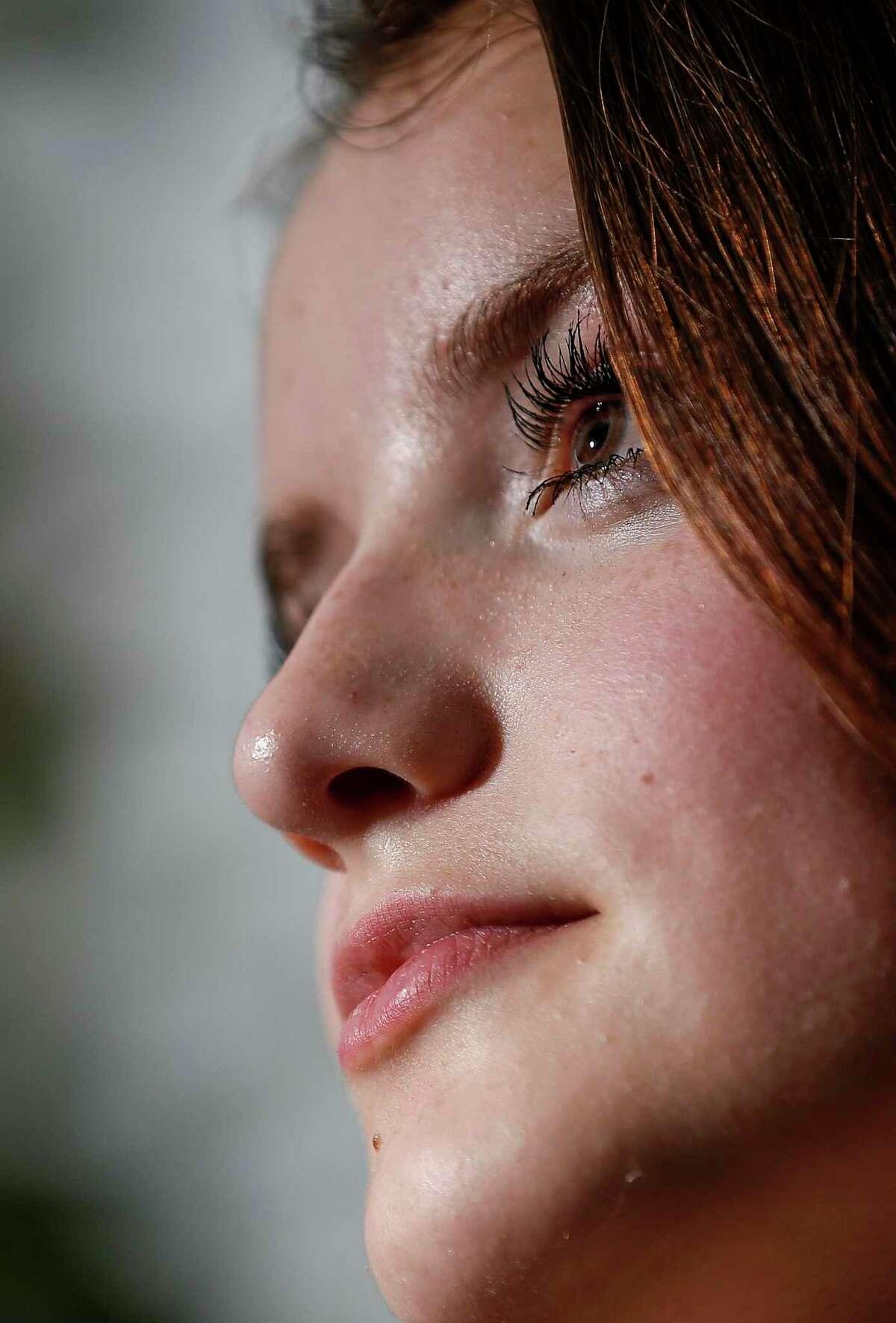 Mackenzie Schnettler, 15, poses for a portrait Thursday, Sept. 17 2020, at her home in Brazoria.
