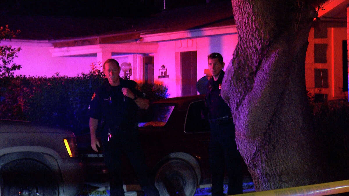 A woman was hospitalized Monday morning after her son stabbed her in the buttocks during an argument about a car, San Antonio police said.