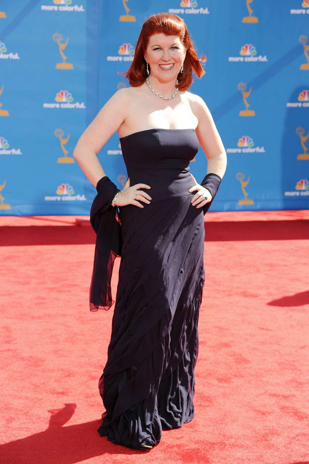 Actress Kate Flannery arrives at the 62nd Annual Primetime Emmy Awards held at the Nokia Theatre L.A. Live on August 29, 2010 in Los Angeles, California. (Photo by Frazer Harrison/Getty Images)
