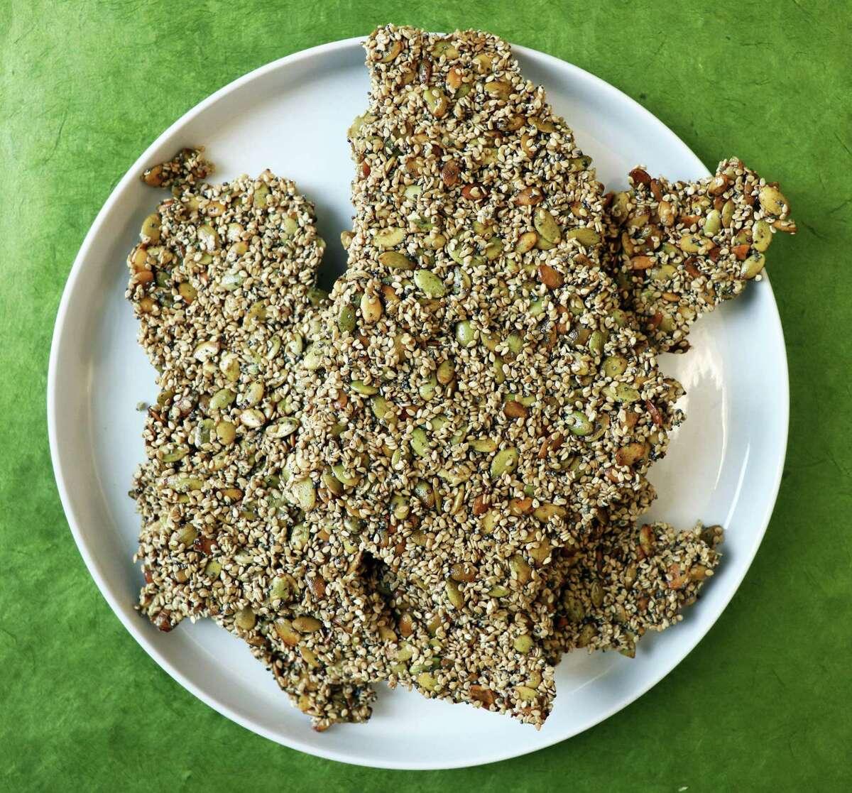 Seed crackers from chef Anita Jaisinghani