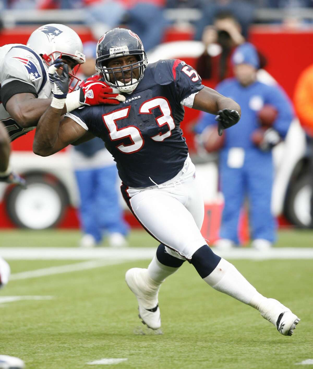 Shantee Orr, linebackerOrr played for the Texans from 2003 to 2007. He also played for the Jaguars and Browns.