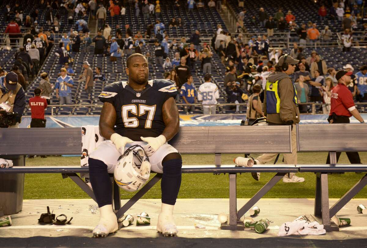 Rex Hadnot, offensive linemanHadnot, who is from Lufkin and played at the University of Houston, spent nine seasons in the NFL with the Dolphins, Browns, Cardinals and Chargers.