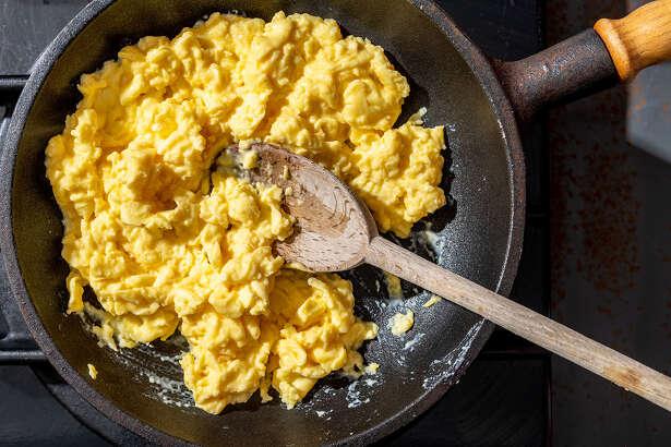 Scrambled eggs.