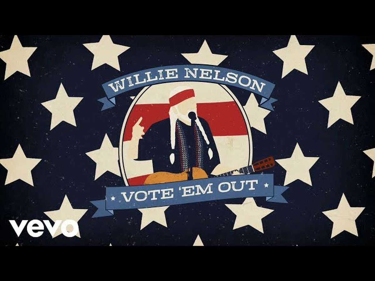 Willie Nelson releases new video for his 2018 single, Vote Em Out.