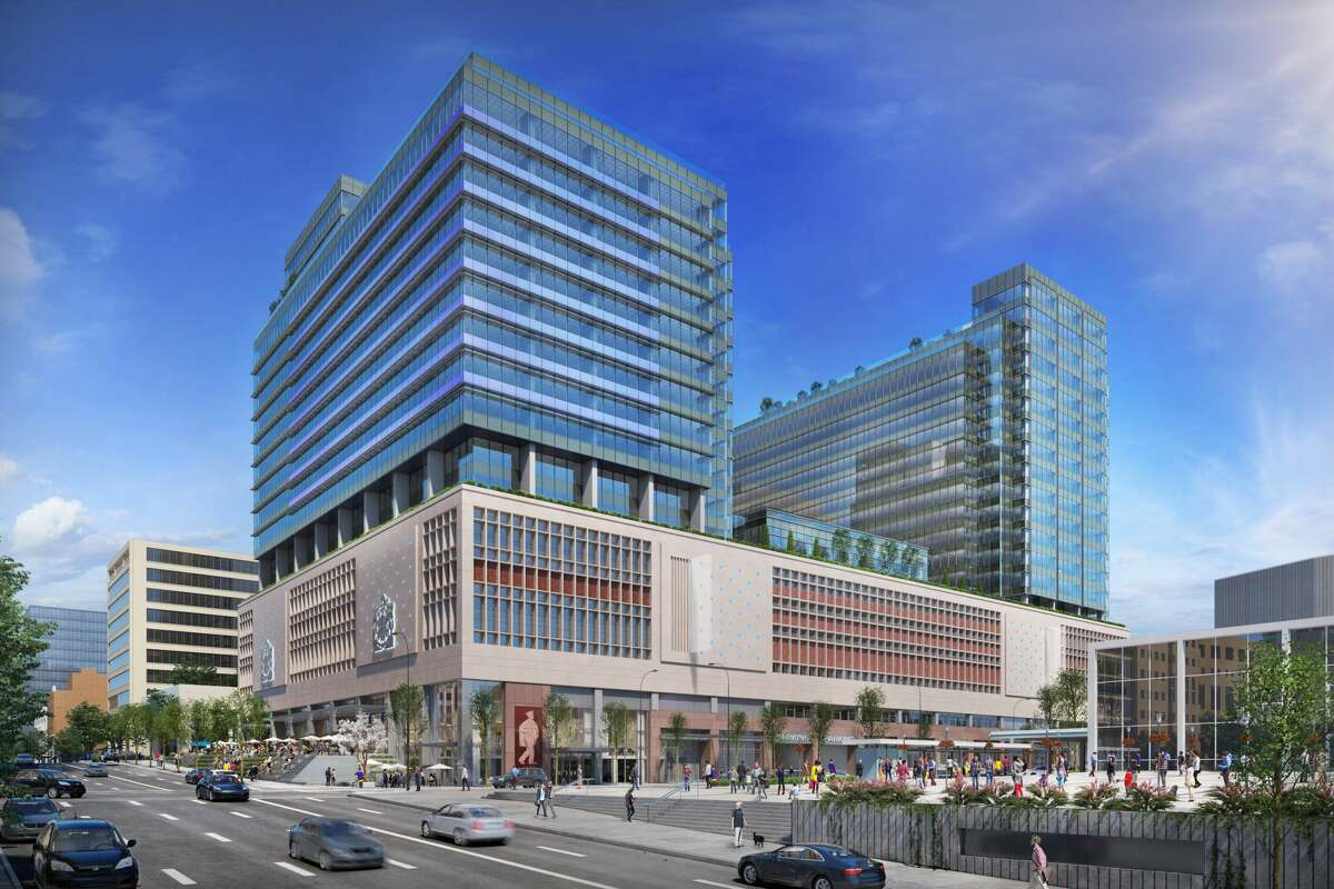 A rendering of Amazon's new offices in Vancouver, BC.