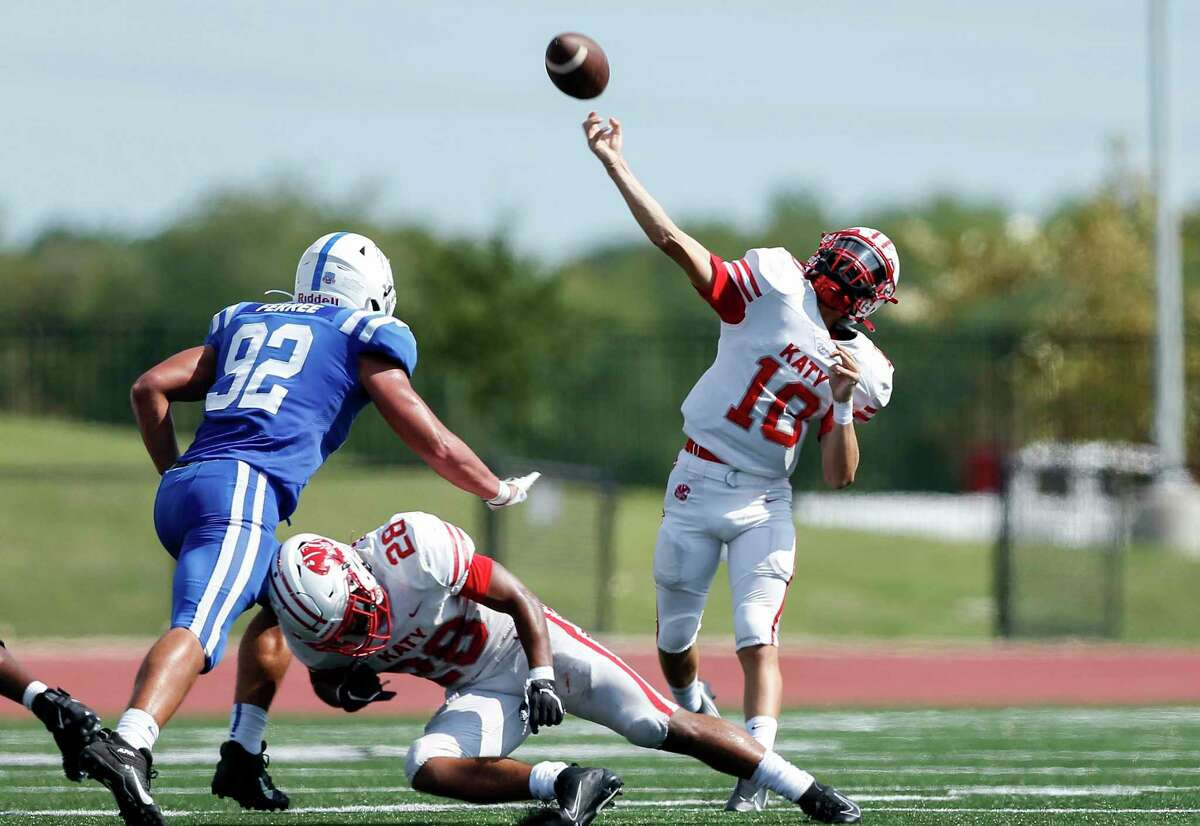 Katy and quarterbak Caleb Koger rolled past Cy Woods, 66-21, after building a 56-0 halftime lead.